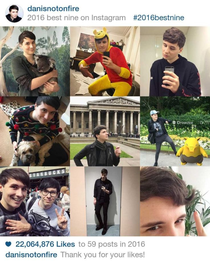 Dan Howell's most liked pictures of 2016... I wonder why :')