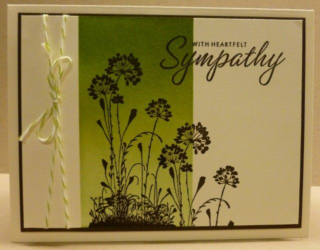 CASEd Sympathy card. Stampin Up Serene Silhouettes set