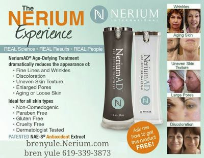 Nerium International~Bren Yule~Brand Partner Real Science~Real Results...see for yourself! www.actualresults.Nerium.com