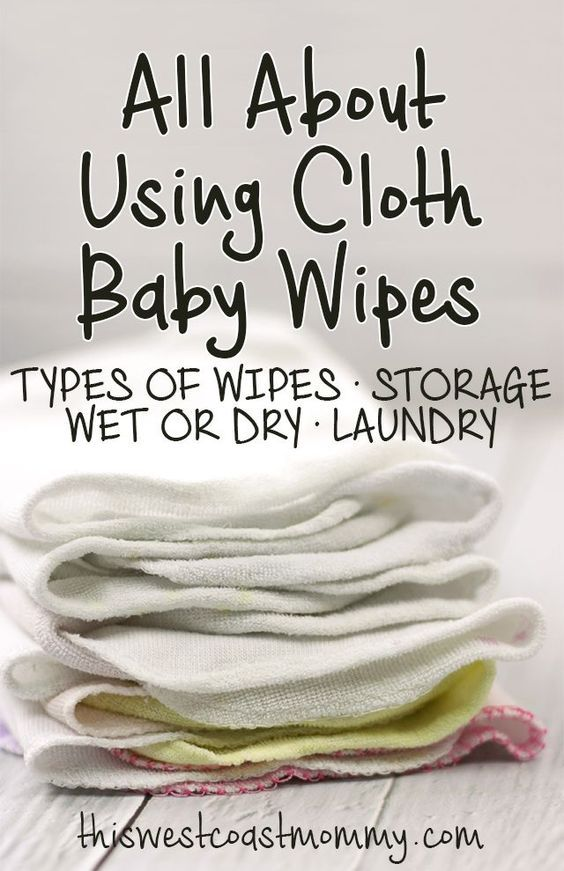 All About Using Cloth Baby Wipes - types of cloth wipes, how to store wipes, using a wet or dry system, and laundry.