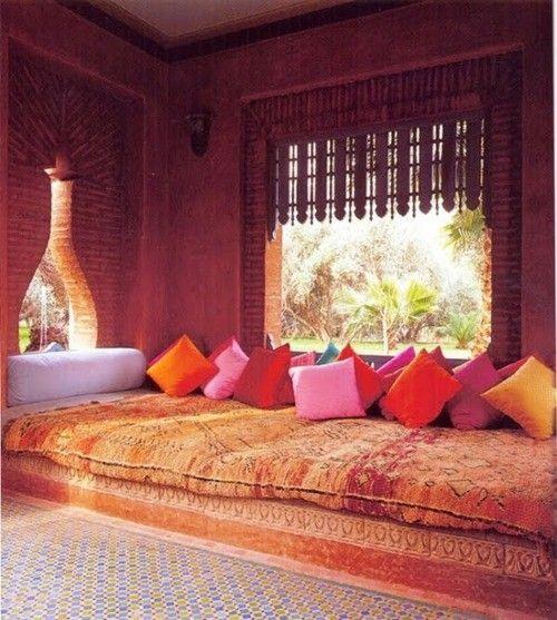 color.: Design Inspiration, Arabian Night, Indian Summer, Color, Interiors Design, Window Treatments, Throw Pillows, Bohemian Style, Window Seats