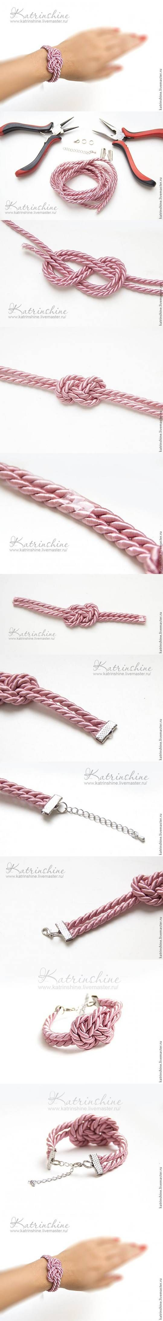 DIY Bracelet with a Knot of Silk Cord