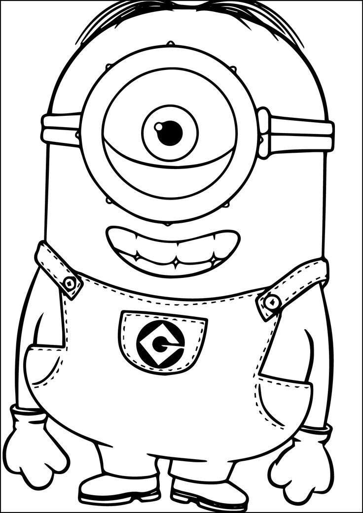 23 best Minions images on Pinterest Coloring sheets Coloring