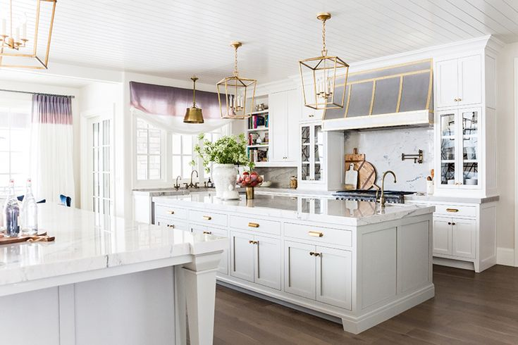 Stunning double island kitchen: http://www.stylemepretty.com/living/2016/06/09/double-kitchen-islands-weve-died-and-gone-to-heaven/   Photographer : Lindsay Salazar - http://www.lindsaysalazar.com/