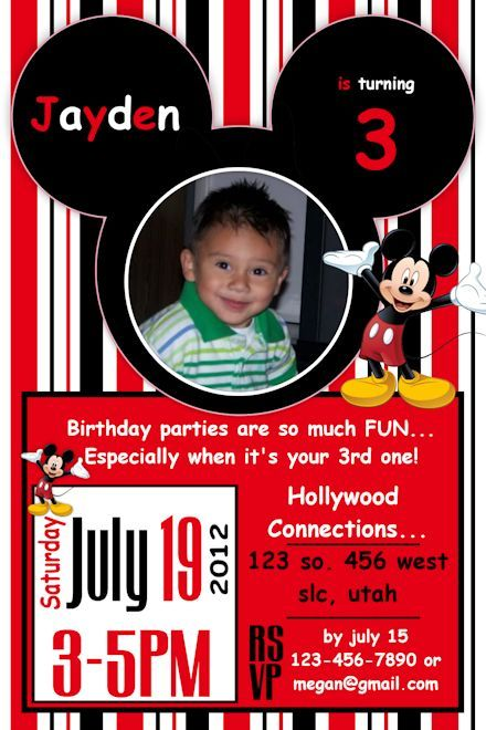 20 best Mickey and Minnie Birthday Invitations images – Personalized Mickey Mouse Birthday Invitations