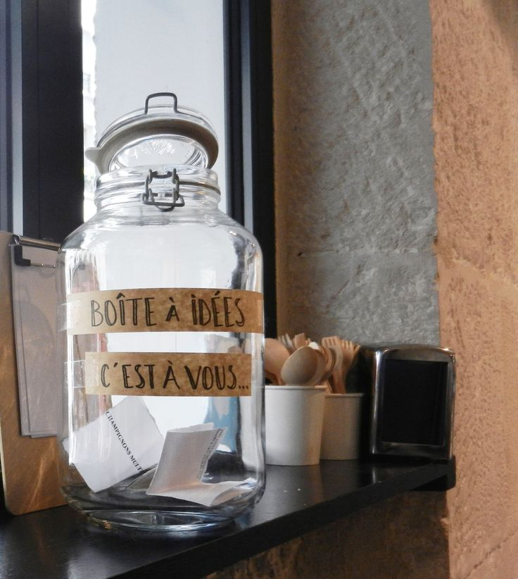 Oh ! Une boîte à idées ! Rien de mieux pour offrir la chance au consommateur d'améliorer la vie dans son magasin bio !