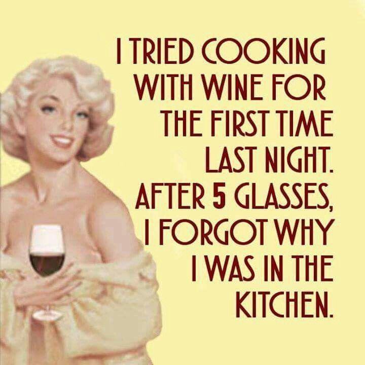 Cooking with wine #sassy #retrohumor http://ibeebz.com