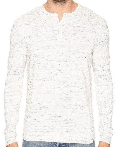 Calvin Klein White Space Dye Mens Size 2XL Henley Marled Sweater