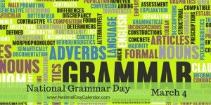 National Grammar Day - March 4