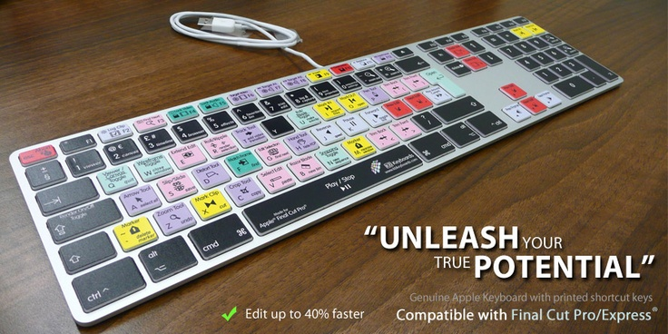 Final Cut Premium Dedicated Keyboard