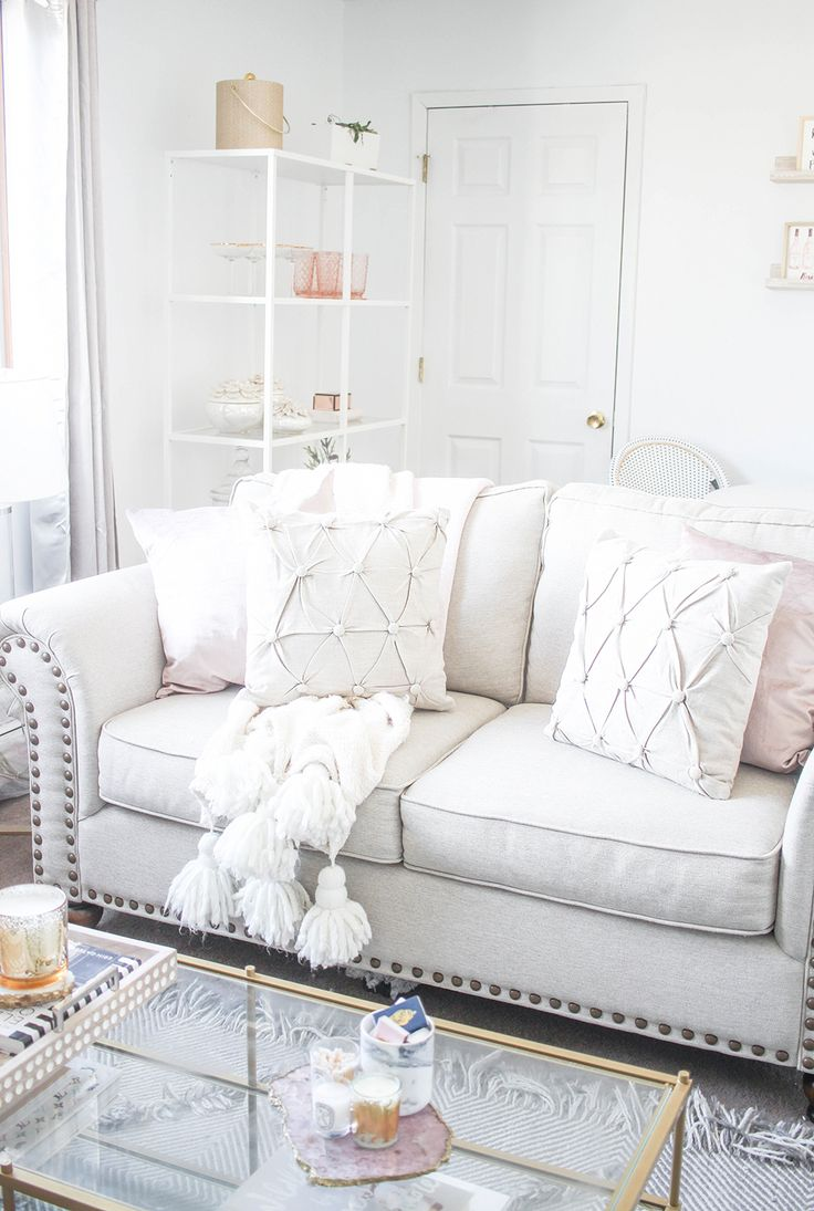 Neutral Living Room | Blush and Cream Living Room | New ...