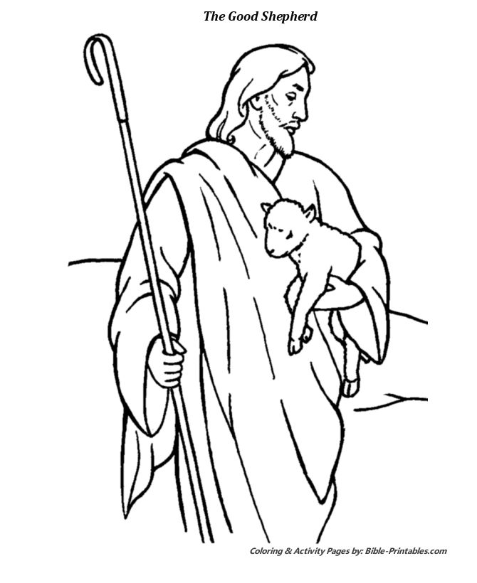 The Parable of The Good Shepherd 1   Jesus coloring pages ...