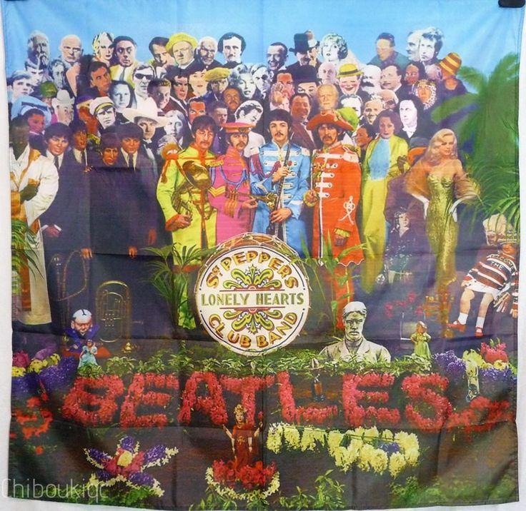 THE BEATLES Sgt Pepper HUGE 4x4 BANNER poster tapestry cd album cover art