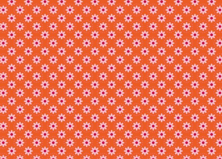Oranje bloemen patroon door zwiep.nu