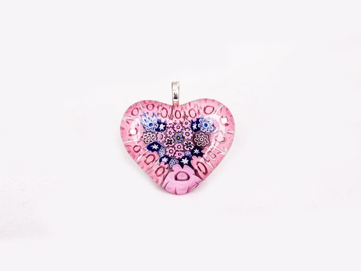 Pendant m Mille Jewellery (Heart Pink and Blue) | Jewellery | Glassroots | buykoop.com