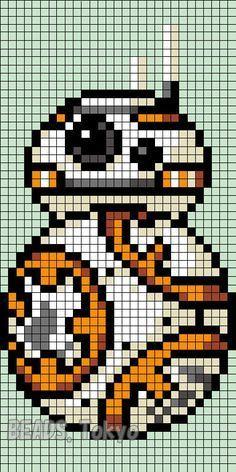 BB-8 Star Wars: The Force Awakens Perler Bead Pattern - BEADS.Tokyo: