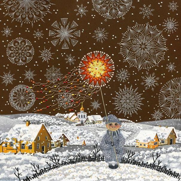 Там, где ангелы, там всегда свет. Картины Анны Черненко - Ярмарка Мастеров - ручная работа, handmade