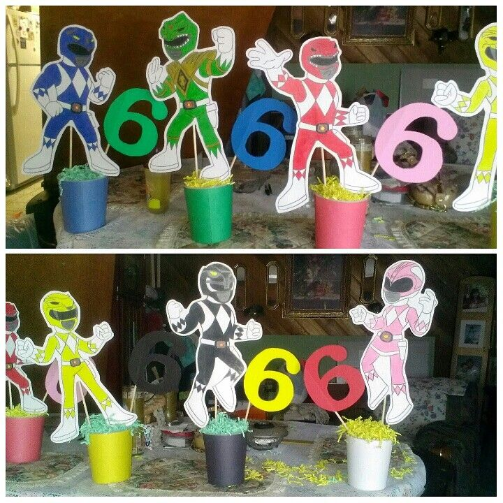 Power rangers centerpieces
