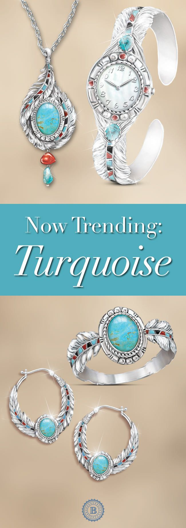Liven your spring with the vivid colors of the southwest. Turquoise is currently hot and in style, so don't miss this original turquoise jewelry designs.
