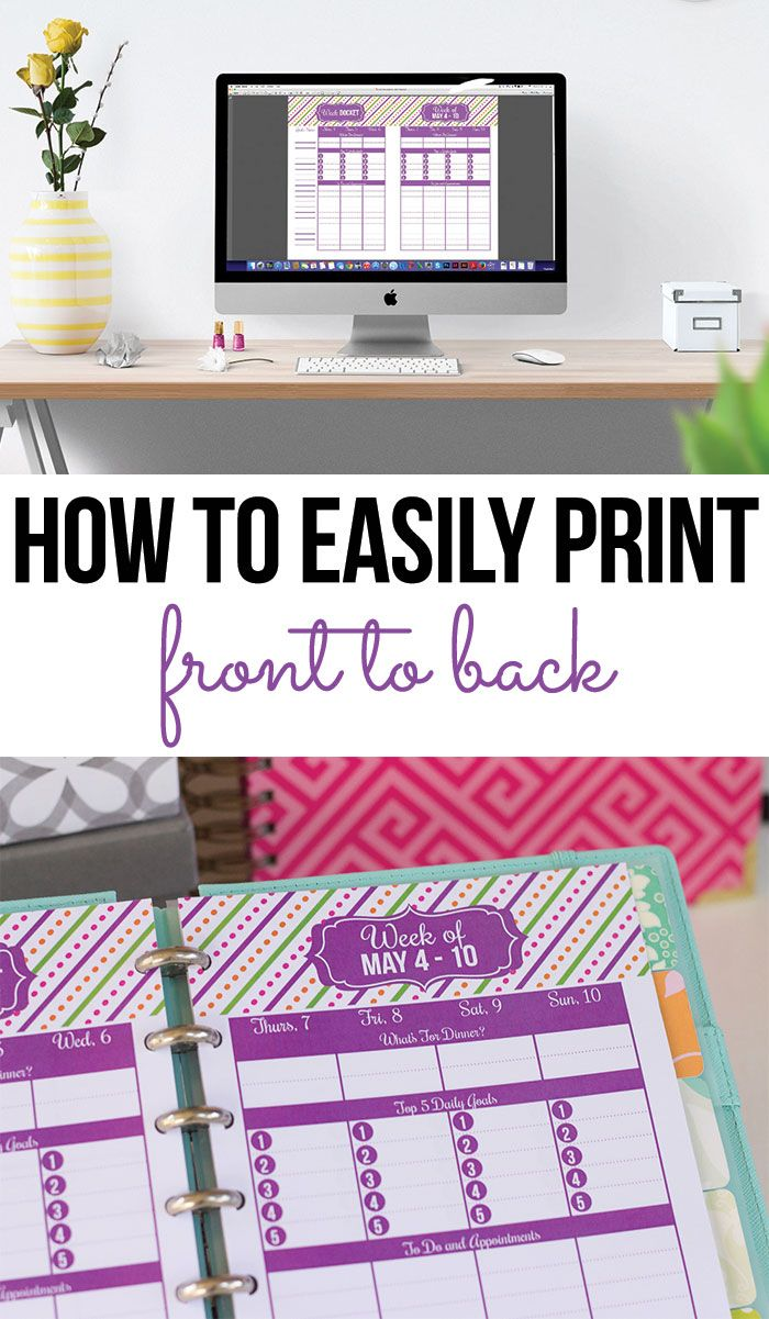 How to print front to back (double sided) quickly and easily.