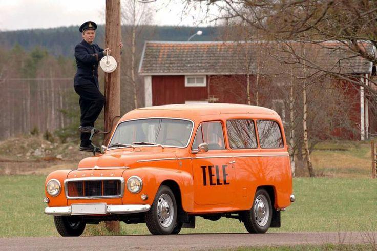 Televerkets orange bilar