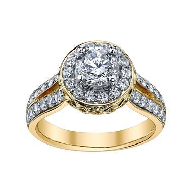 Stunning K Yellow Gold Diamonore Ring jcpenney