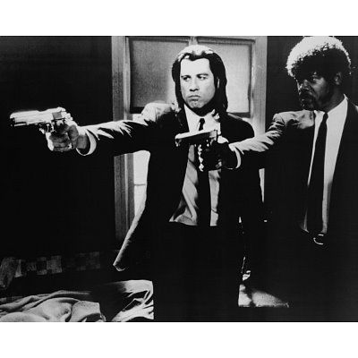 "Pulp Fiction. ""English mother F*cker, do you speak it?"" haha classic Samuel L. Jackson."