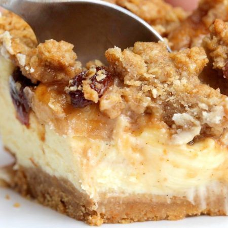 Heat the oven to 180°C/350°F In a baking tray mix apples, sugar, cinnamon and sultanas and bake for 25 minutes. Turn the oven down to 160°C/320°F. In a food processor,…