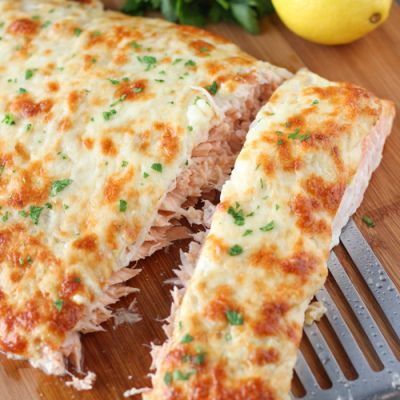 Cheesy Baked Salmon - Красная Рыба Под Сырной Шубой   This was fantastic!  Moist and delicious