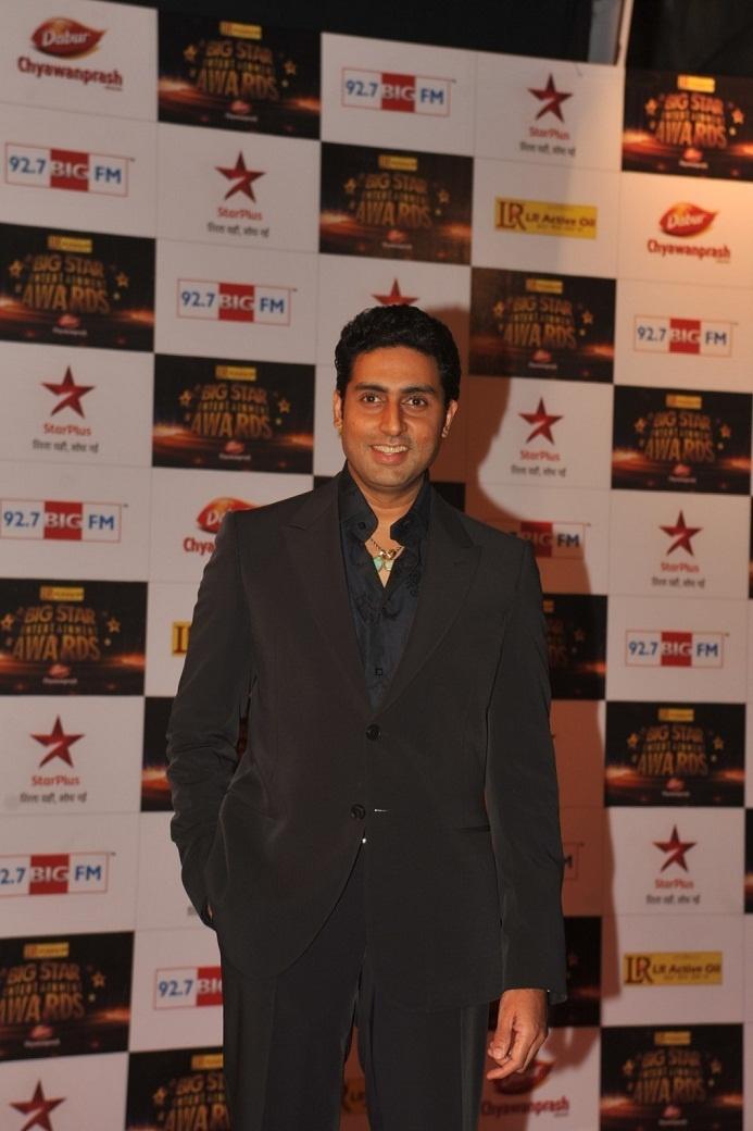 Abhishek Bachchan At Big Star Entertainment Awards 2012.