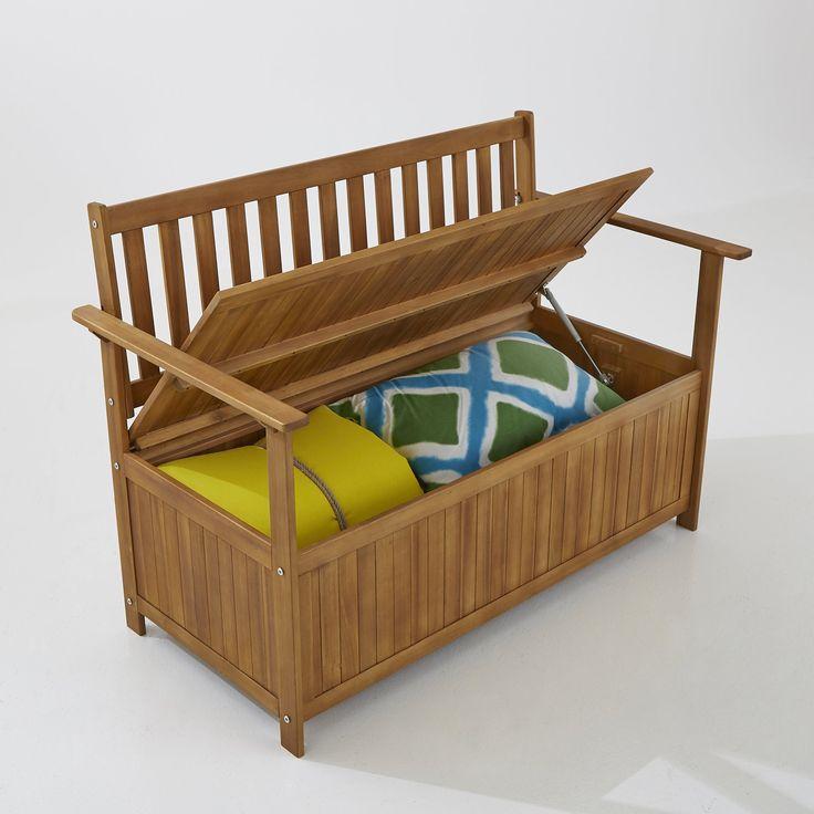 Cкамья садовая, 2-х местная, с ящиком для хранения вещей La Redoute Interieurs : цена, отзывы & рейтинг, доставка. Украсьте ваш экстерьер с помощью этой скамьи из акации, на ней могут разместиться легко 2-3 человека, а в ящик можно положить подушки, игрушки, садовый инвентарь или набор инструментов для барбекю… Клапан закрывания идеален для быстрого размещения вещей . Дерево акации славится своей прочностью и простым уходом .Характеристики садовой скамьи : 2-3 места Открывание за клапан ...