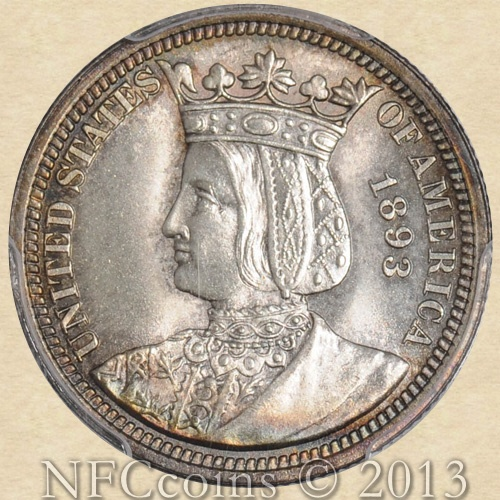 The Isabella Quarter was not only one of the first U.S. commemorative coins, but it was the first commemorative quarter, and one of the most unusual. It celebrates the women's role in industry, and believe it or not, it was issued in 1893 in conjunction with the World's Columbian Exposition in Chicago.