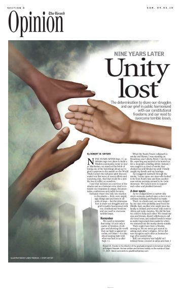 9-11 Nine Years Later | News Page Design and illustration by Lance Theroux, ©The Record (Northern New Jersey)