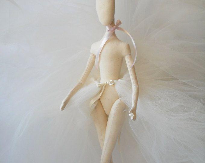 Premade de en blanco cuerpo de la muñeca para hacer a mano