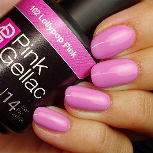 Pink Gellac #177 Glitterize Black Soak-Off UV / LED Gel Polish (15ml / 0.5 fl oz)
