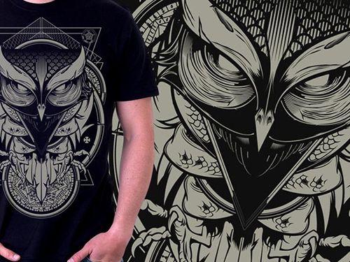 Retro Owl T-shirt Designs That'll Make You Hoot