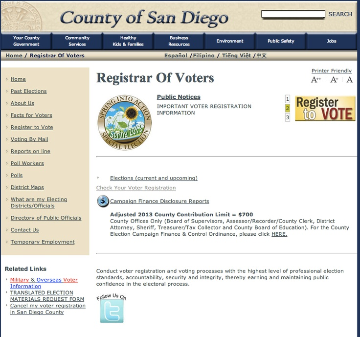 San Diego County Registrar. The flag is an animated gif.   http://www.sdcounty.ca.gov/voters/Eng/Eindex.shtml