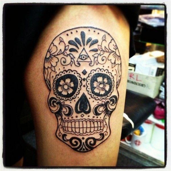 Amazing Sugar Skull Tattoos                                                                                                                                                                                 More