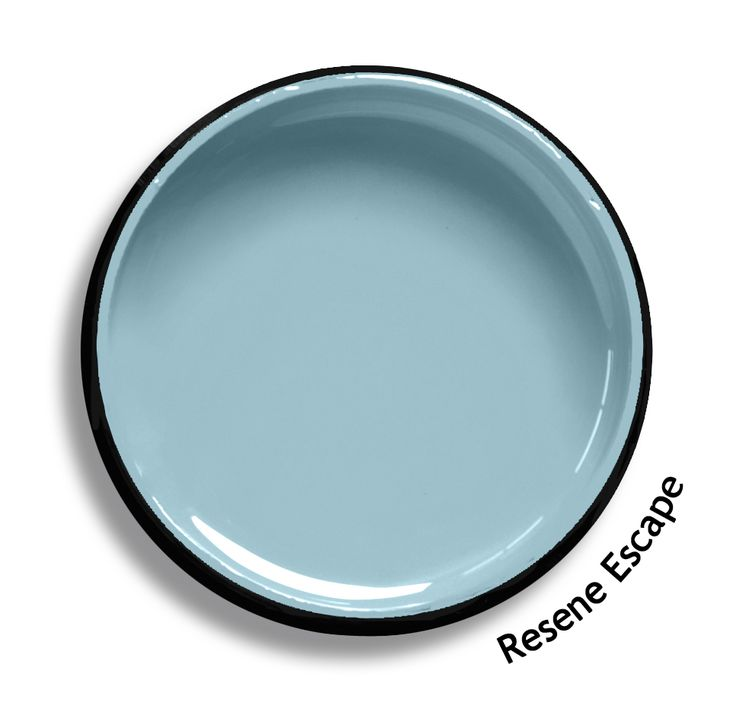Resene Escape is a pale cerulean blue, dreamy and calm. Try Resene Escape with rich red browns, light astral blues or bold pure reds such as Resene Chocolate Fish, Resene Waterfront or Resene Smashing. From the Resene The Range fashion colours. Latest trends available from www.resene.co.nz. Try a Resene testpot or view a physical sample at your Resene ColorShop or Reseller before making your final colour choice.