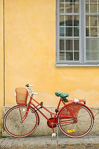 retro bike in Sweden - love the colors in this photo