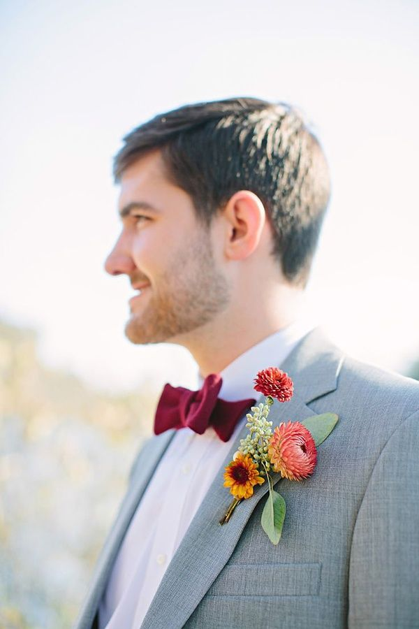 wedding, wedding photos, wedding photography, photography, wedding inspiration, groom, suit, bow tie, boutonniere