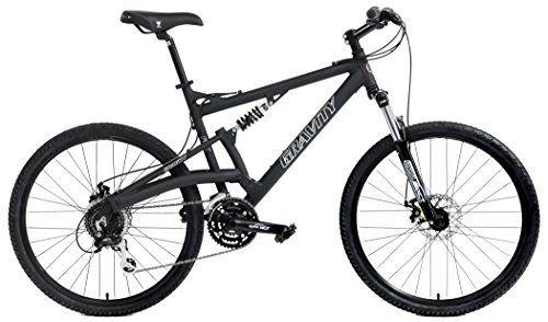 2016 Gravity FSX 2.0 Dual Full Suspension Mountain Bike Shimano Acera Suntour (Matt Black with Black Wheels, 21inch) - http://www.bicyclestoredirect.com/2016-gravity-fsx-2-0-dual-full-suspension-mountain-bike-shimano-acera-suntour-matt-black-with-black-wheels-21inch/