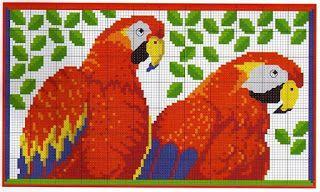 ENCANTOS EM PONTO CRUZ: Lindos Pássaros em Ponto Cruz