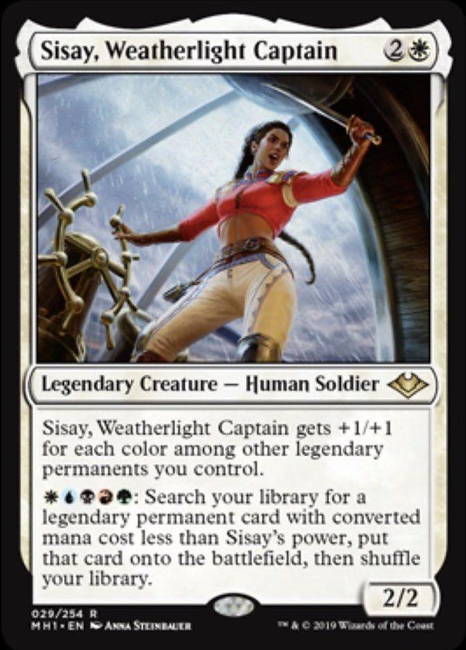 sisay weatherlight captain  magic the gathering cards