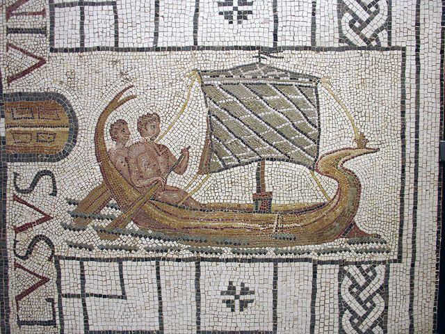 Teseo parte da Creta - (III sec. d.C.) da Utica. almacendeclasicas.blogspot.it