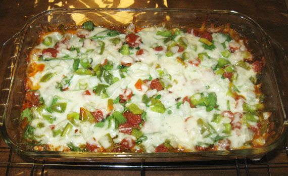 Baked Low Carb Crustless Pizza