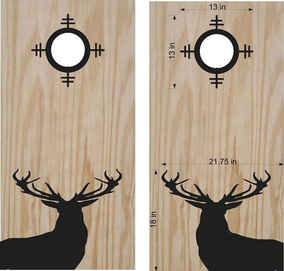 Hey, I found this really awesome Etsy listing at https://www.etsy.com/listing/464965595/deer-buck-hunting-sight-cornhole-board