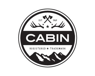 Cabin Badges And Badge Logo On Pinterest