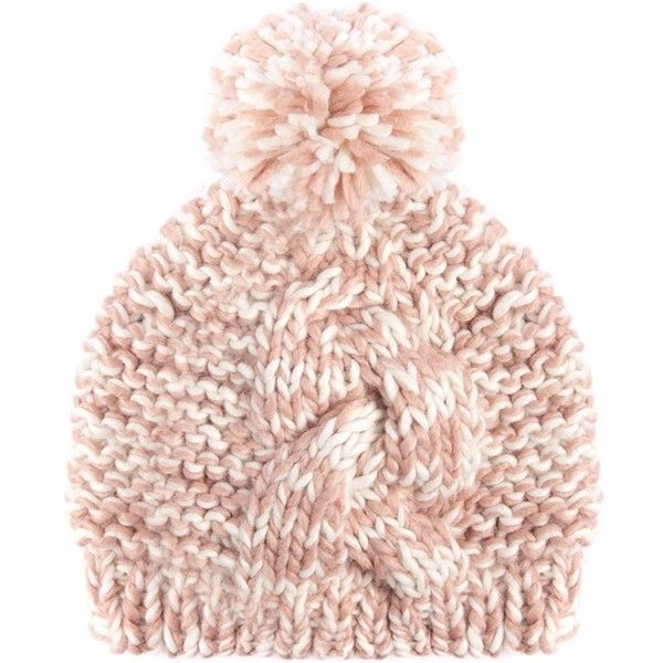 Women's Barbour Clyde Bobble Hat - Nude ($38) ❤ liked on Polyvore featuring accessories, hats, bobble hat, cable hat, bobble beanie, cable knit hat and pom pom hat