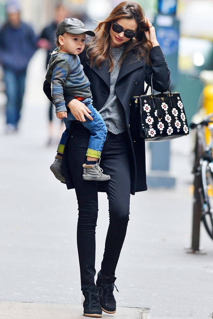 Miranda Kerr in the Isabel Marant Bobby Sneaker
